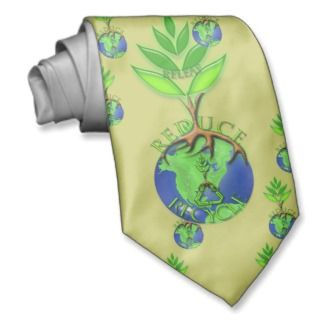 Releaf Reduce Recycle Necktie