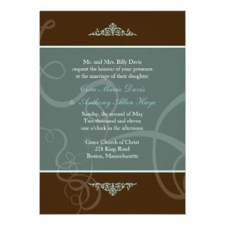 Dark Chocolate Classic Wedding Invitation