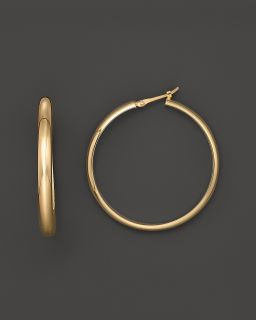 14K Yellow Gold Extra Large Hoop Earrings