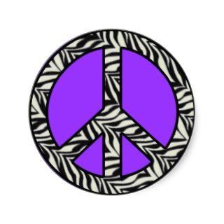 Zebra Print Peace Sign Sticker stickers by SayItNow