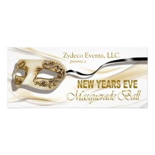 New Years Eve Masquerade Ball Party Invitation