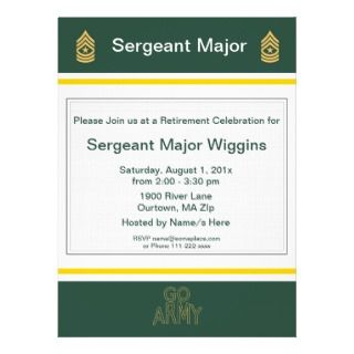 Army Sergeant Major Retirement Invitation
