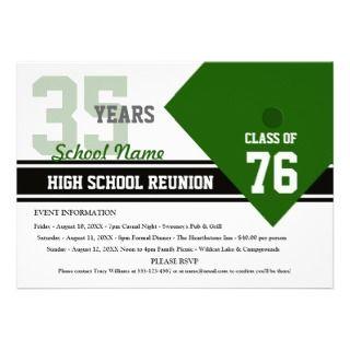 Customizable High School Class Reunion Announcements