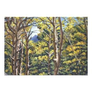Aspens in Estes Oil Landscape Painting Personalized Announcement
