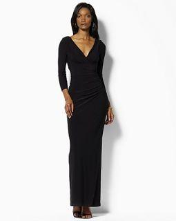 Lauren Ralph Lauren Dress Side Draped Long Dress