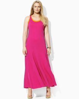 Lauren Ralph Lauren Plus Scoop Neck Tank Dress