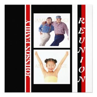 Family reunion class of party invitations