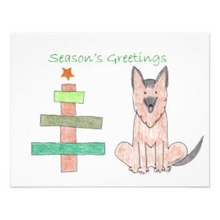 German Shepherd Dog Stick Tree Invites