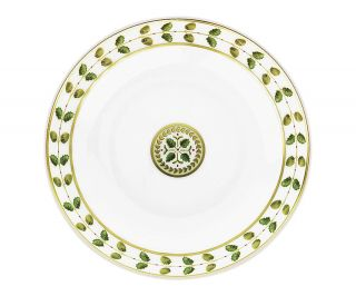 bernardaud constance rim soup bowl price $ 140 00 color green gold