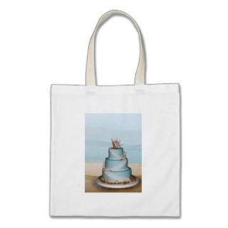 Elegant Sea Shell Wedding cake Tote Bag