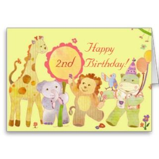 Baby Animals Birthday Card for Children