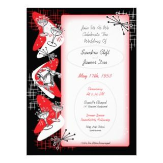 Vintage 1950s Wedding Invitations   Large