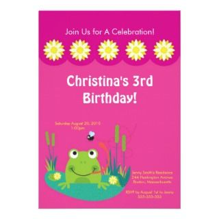 party invitation our cute frog birthday invitation features a cute