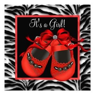 invitations red zebra baby shower invitations red bows baby shower