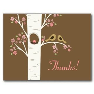 Bird Nest in a Spring Tree Custom Invitations