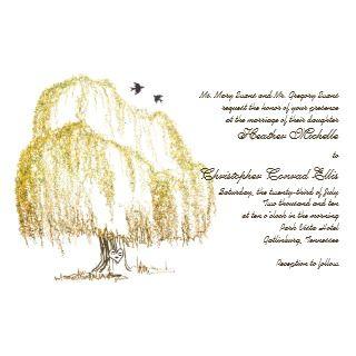 Autumn Willow Tree Wedding Invitation invitation