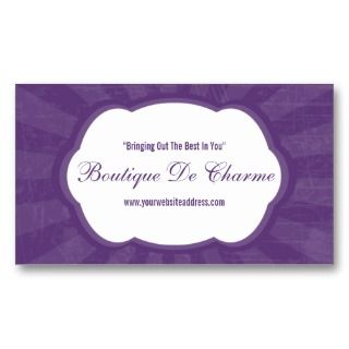 Use these chic fashion salon business cards to get the word out about