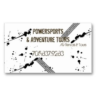 Business Card   ATV 4 Wheeler Adventures Mud Tire