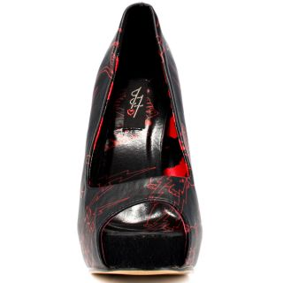 Iron Fists Multi Color Stabby Cat Platform   Black for 49.99