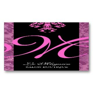 311 Marley Monogram Pink Too Business Card Templates