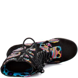Iron Fists Multi Color Sugar Hiccup CBat Boot   Blk for 89.99