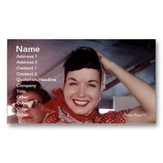 Bettie Page businesscards Store