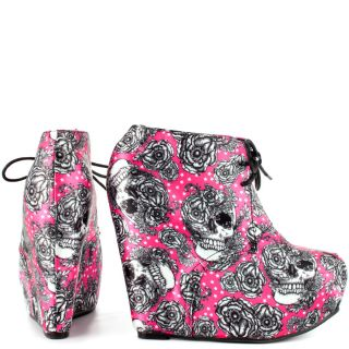 Iron Fists Multi Color Bright Light Wedge   Fuchsia for 64.99