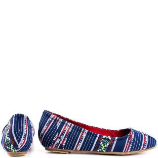 Chinese Laundrys Multi Color All Done   Blue Multi Tribal for 49.99