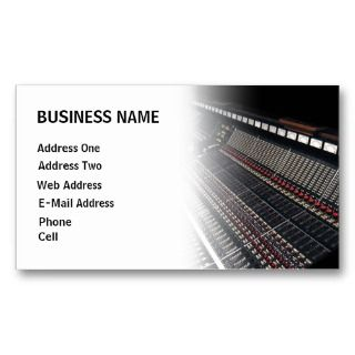 business with this customizable recording studio music business card