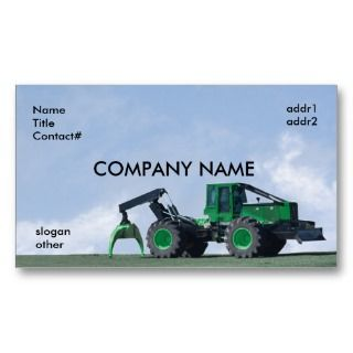 blue sky skidder business cards