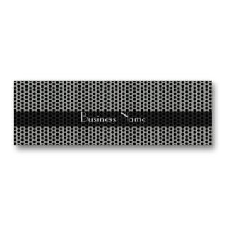 Profile Card Business Silver Black Metal Dots Business Card Templates