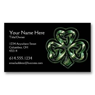 Celtic Shamrock Design 2 Irish Business Card