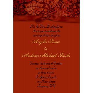 Burnt Orange Autumn Reception Card Announcements