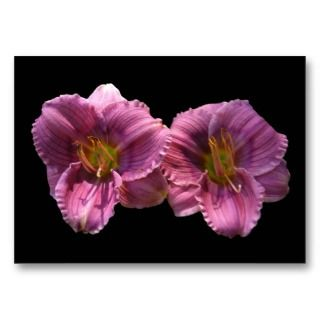 Lavender Day Lilies ~ ATC Business Card Template
