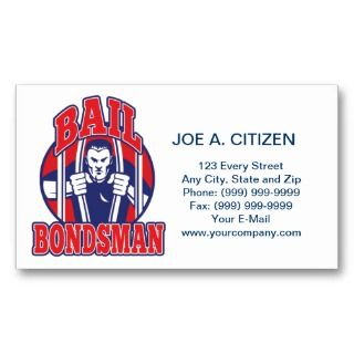bail bonds busting prison business card