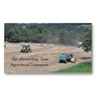 Agricultural contractor business card