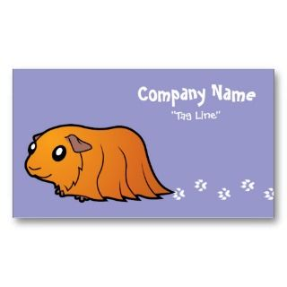 Cartoon Guinea Pig (red) business cards by SugarVsSpice