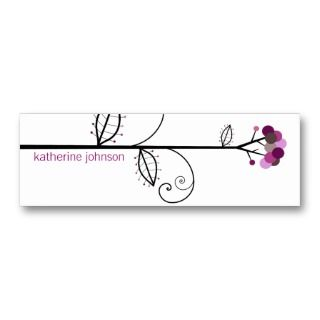 Bloom Tree Dots  *06 Profile Card  Gift Tag  Business Card