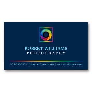 Photographer Business Cards by SocialiteDesigns