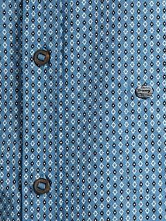 Diesel Long sleeve diamond print shirt Blue
