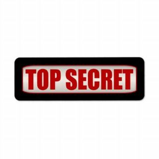 Standard Business Top Secret Small Label
