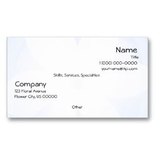 Blue White Floral Glow Business Card