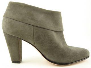 Kate Spade Brit Dark Grey Suede Cuffed Womens Designer Shoes Ankle