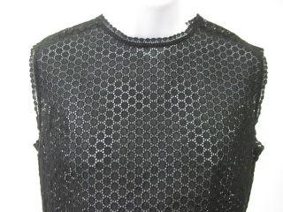 Katharine Hamnett London Blk Eyelet Shirt Top Blouse M
