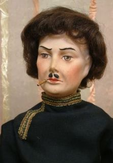 Dashing 22 French Boudoir Male Smoker Doll Antique Costume Such A