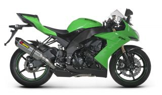 08 10 Kawasaki ZX 10R Akrapovic Racing Full Exhaust   Hexagonal Carbon
