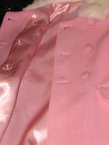 New Katie Co Strasburg Girls 3T Wool Coat Hat Fur