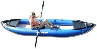 Saturn inflatable kayaks. Budget kayak for long expeditions.