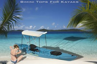 Bimini Top Canopy Cover 36WX60L Inflatable Boat Kaboat Canoe 2 Bow