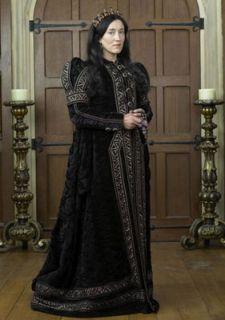 The Tudors Queen Katherine Blue Velvet Gown s to XL